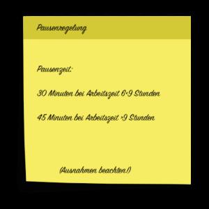 Pausenregelung nach Arbeitszeitgesetz (ArbZG)